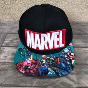 Marvel Comic Avengers Snapback Hat Hulk Spider-Man